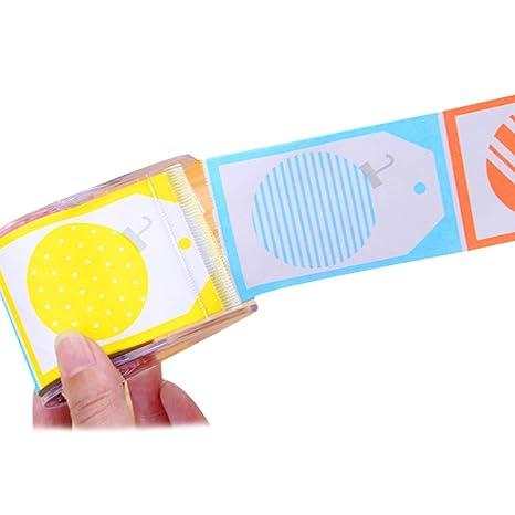 80 piezas de rollo Notas autoadhesivas con Dispensador de cinta pegajosa de la nota Tabs pegatinas