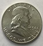 #2: 1954 D Silver Franklin Beautiful Half Dollar AU About Uncirculated Condition