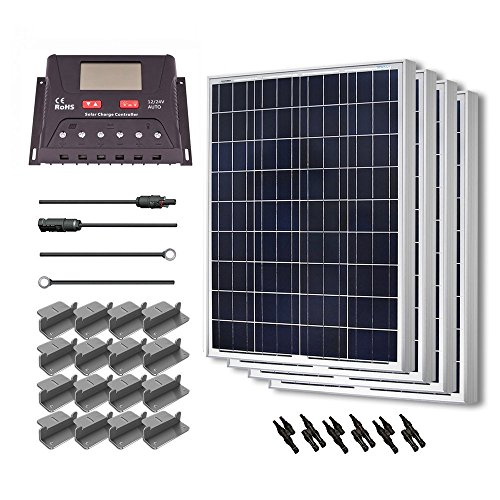 Renogy 400 Watt 12 Volt Polycrystalline Solar Starter Kit with 30A PWM Controller - LCD Display
