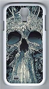 Samsung Galaxy S4 I9500 White Hard Case - C Skull Galaxy S4 Cases