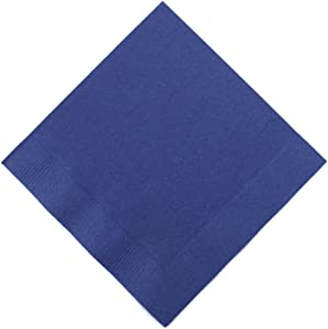 Navy Blue 3-Ply Beverage Napkins | Pack of 50 | Party Supply