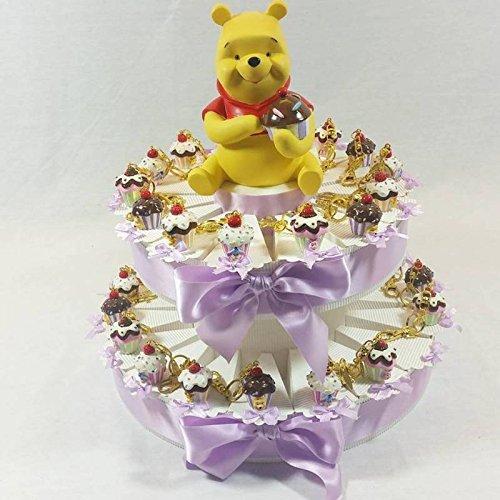 Tarta BOMBONIERA Cupcake llavero Winnie the Pooh nacimiento ...
