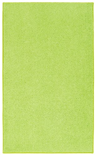 Nance Industries OurSpace Bright Area Rug, 5-Feet 7-Feet, Lemon (Bright Lime Modern Kids Rug)
