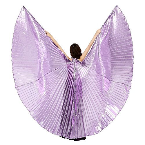 [Dance Fairy Belly Dance Isis Wings Dance Costumes,Silver Purple] (Sexy Belly Dancer Costumes)