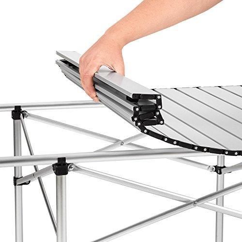Tavolo Campeggio Alluminio Avvolgibile.Tavolo Da Campeggio Varie Misure Alzata Avvolgibile Regolabile In