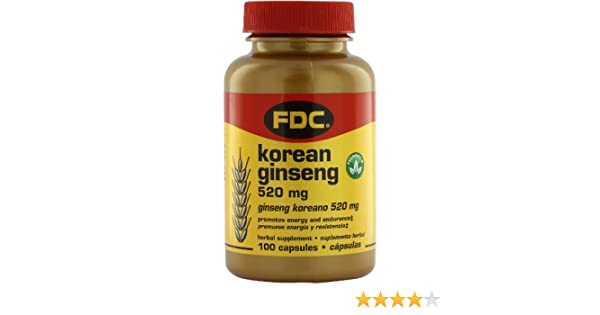 Amazon.com: FDC Vitamins Korean Ginseng - 520 mg - 100 Capsules: Health & Personal Care