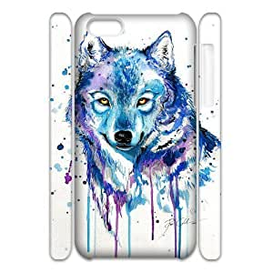 Customized Durable Case for iPhone 6 4.7 3D, Rainbow Wolf Phone Case - HL-R6 4.772027 WANGJING JINDA