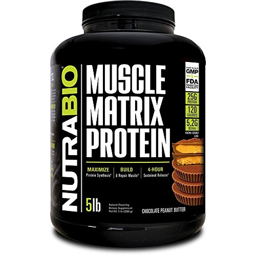 NutraBio Muscle Matrix - Whey Protein Blend (Chocolate Peanut Butter, 5 Pounds)