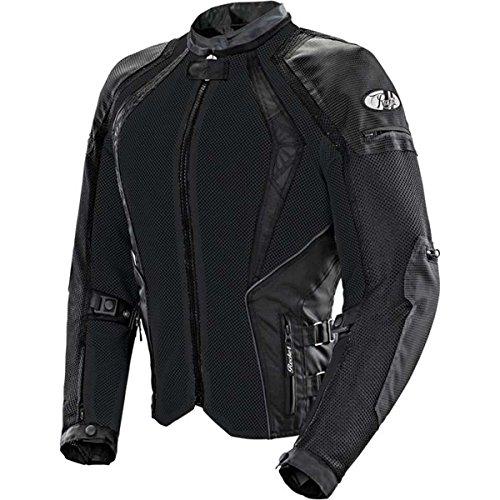 Joe Rocket Cleo Elite Women's Mesh Street Motorcycle Jacket - Black / (Womens Elite Motorcycle)