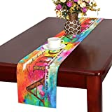 InterestPrint Christian Bible Verse Faith Hope Love Amor But The Greatest Of This Is Love Cotton Linen Placemat Table Runner,Rectangle Table Runner Cotton Linen Cloth Placemat16 x 72''