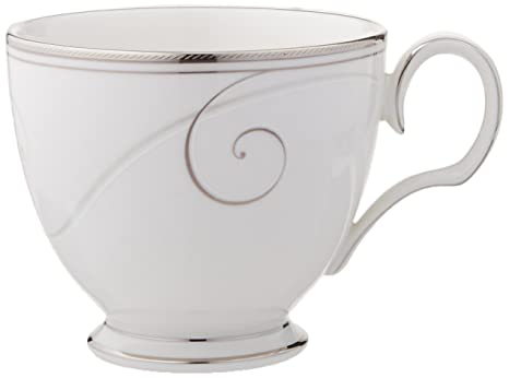 Amazon com | Noritake Platinum Wave Cup: Teacups: Teacups
