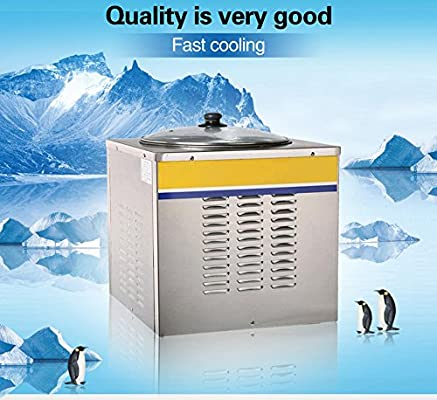 Yoli® pequeño frito Ice Cream máquina para fruta, leche, yogur ...