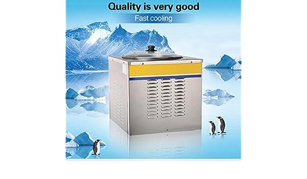 Yoli® pequeño frito Ice Cream máquina para fruta, leche, yogur, Ice Cream, acabado satinado, único Pan hielo crema Panificadora: Amazon.es: Hogar