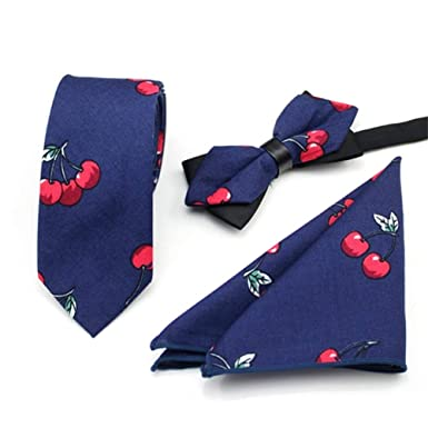 QHDZ Negocio Hombres corbatas Conjunto de corbata de algodón de ...