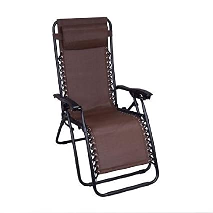 ZLJTYN Lounge Chairs | Brown Outdoor Zero Gravity Patio Recliner Lounge  Chair Comfort Pool Mesh Fabric