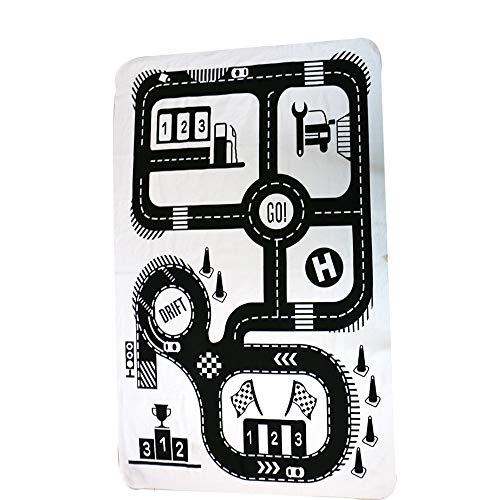 Alfombra De Juegos Carretera BebÉS Lavable AlgodÓN Antideslizante Paquete De Almacenamiento PortÁTil De Juguetes Mantas