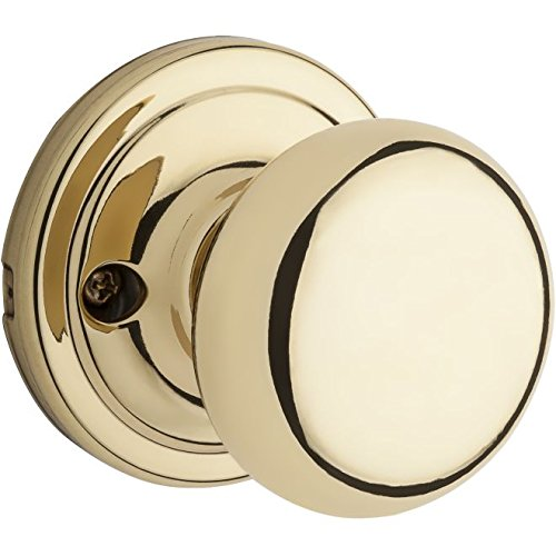 Kwikset Corporation 99660-150 Hancock Single Cylinder Interior Pack Knob, Polished Brass