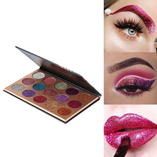 Beauty Glzaed 15 Colors Glitter Make-up Powder Metallic ...