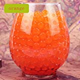 Yiwa Deco Vase Filler Water Pearl Storing Jelly Beads for Vase Filler, Candles, Wedding Centerpiece, Home Decoration, Plants-Orange 1200beads 12pack