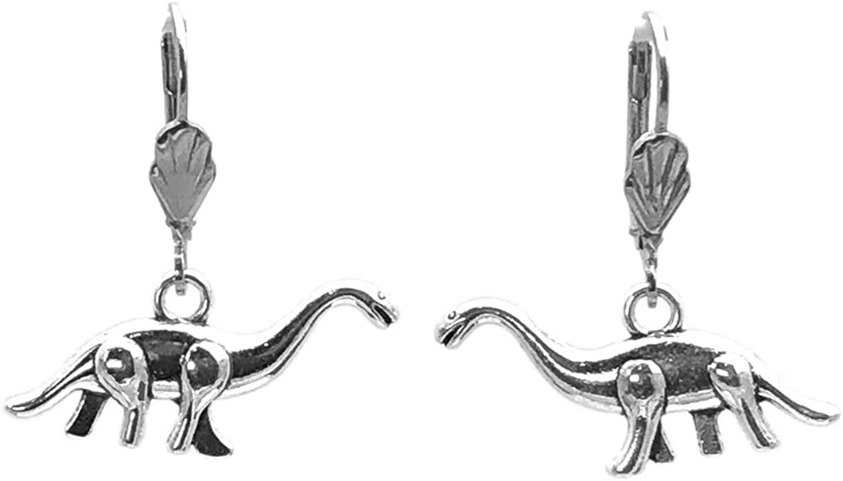 JEWELLERY SET 3D DINOSAUR stegosaurus EARRINGS//NECKLACE GOLD//SILVER FASHION