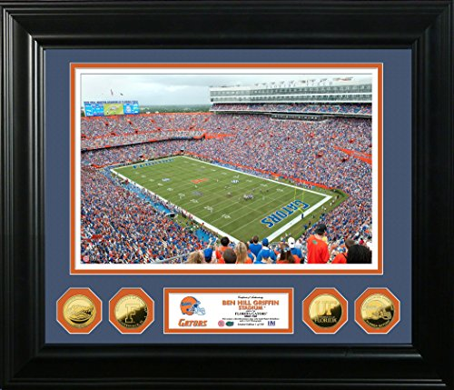 The Highland Mint NCAA Florida Gators Ben Hill Griffin Stadium Special Edition Photo Mint, 32'' x 27'' x 4'', Gold by The Highland Mint