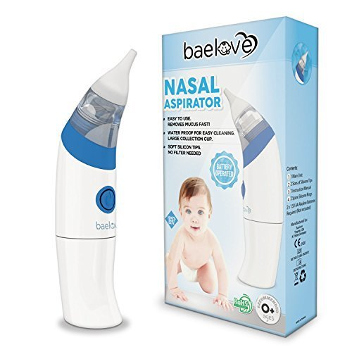 Premium Nasal Aspirator by BaeLove for Babies of All Ages-Quick and Safe - Removes Boogers & Mucus Conveniently - FDA Approved. Includes 2 Adjustable Soft Tips, Manual & 1 Yr No Hassle Warranty. by Little Martin's Drawer
