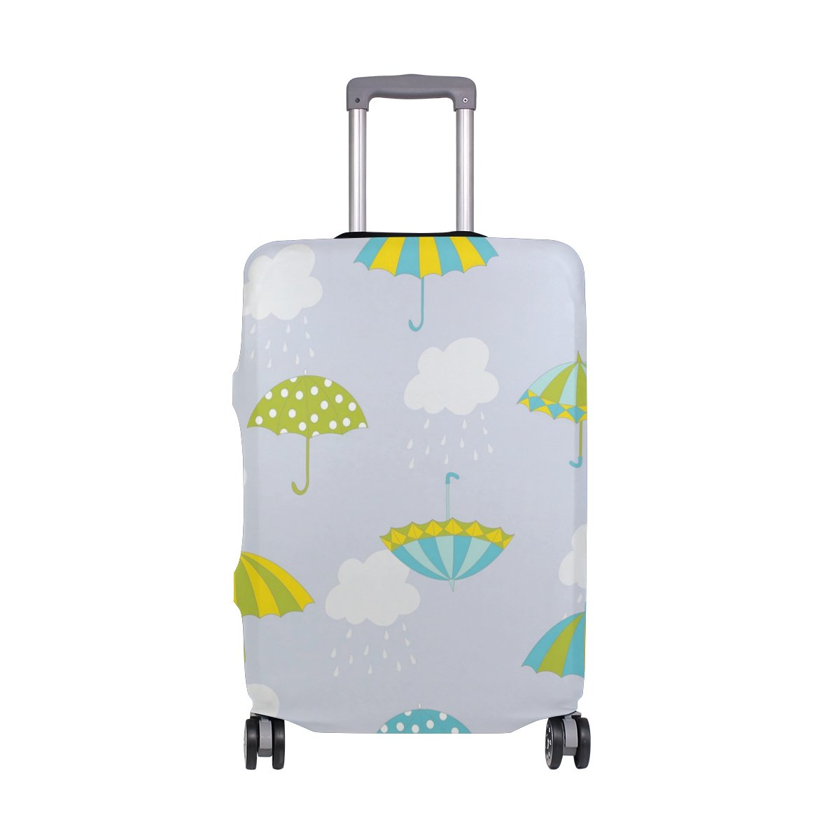 Colorful French Fries Travel Luggage Cover Suitcase Protector Washable Zipper Baggage Cover