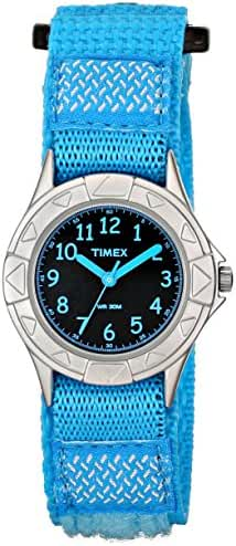 Timex Kids' TW7B998009J My First Timex Silver-Tone Watch with Blue Nylon Band
