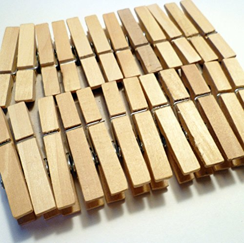 Sturdy Small Craft Clothespins 1 3/4""