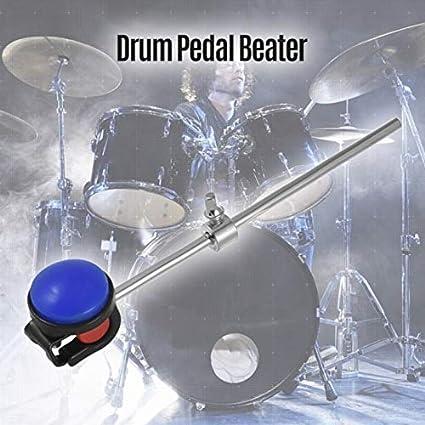 Batidor de pie para batería de bajo, accesorio de cabeza de silicona de acero inoxidable para instrumentos de percusión: Amazon.es: Instrumentos musicales