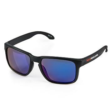 racefoxx Gafas de sol UV 400 Iridium Efecto Espejo Azul ...