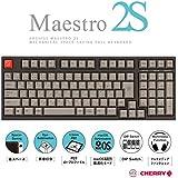 アーキサイト AS-KBM02/SRGBA ARCHISS Maestro2S ゲーミングメカニカル スペースセービングフルキーボード [日本語JIS配列 黒ボディ・グレーキーキャップモデル/CHERRY MX 静音赤軸]