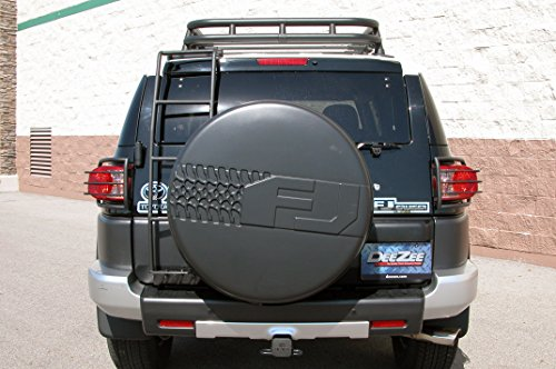 Aftermarket Cruiser Accessories Fj (Dee Zee DZ760611 UltraBlack FJ Cruiser Mounted Ladder)