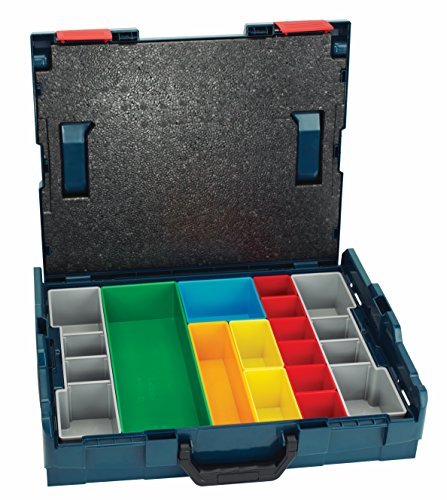Bosch 17.5 In. x 14 In. x 4.5 In. Stackable Carrying Case with 13 pc. Insert Set (Bosch Tool Box)
