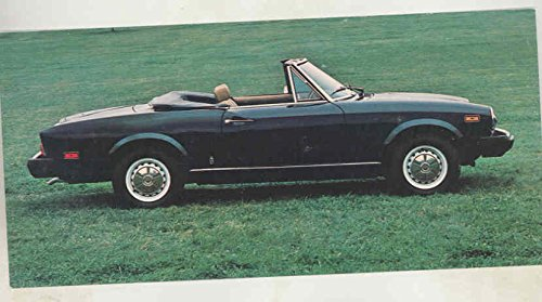 1977 1978 Fiat 124 Sport Spider Large Factory Postcard from Fiat