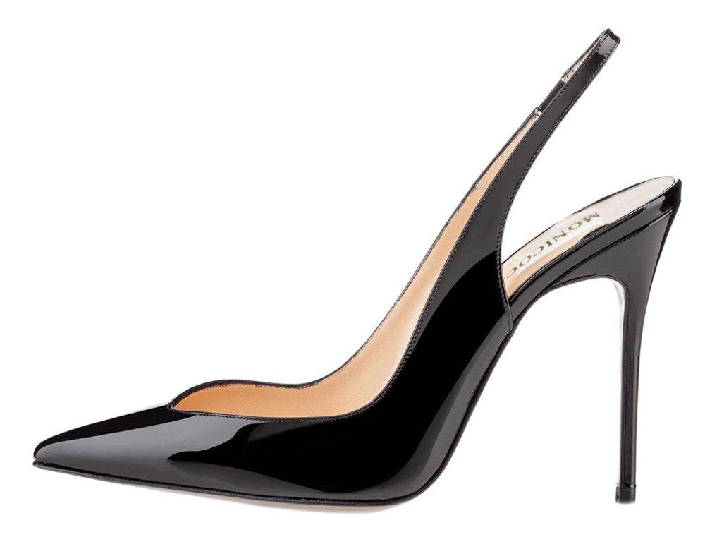 MONICOCO - Zapatos con correa de tobillo Mujer 40.5 EU|Negro - negro