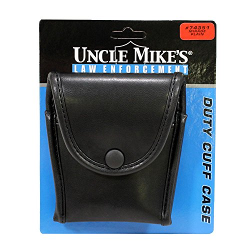 Uncle Mike's Mirage Plain Duty Compact Cuff Case, Black (Case Mirage Plain)