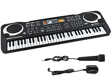 ISO TRADE Teclado para niños - Órgano con micrófono - 61 Teclas #4687: Amazon.es: Juguetes y juegos