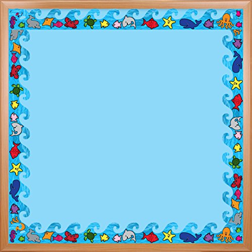Hygloss Products Sea Life Die-Cut Bulletin Board Border - Classroom Decoration - 3 x 36 Inch, 12 Pack ()