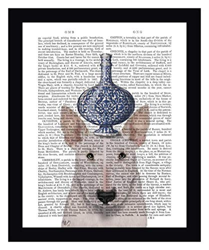 English Bull Terrier with Blue Vase by Fab Funky - 19