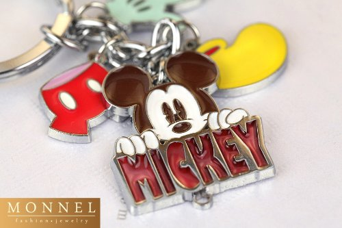 New Arrival Cute Cute Mickey Mouse Glove Pant Shoe Charms Metal Keychain Key Ring (Mouse Shoe Charms)