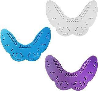 P Prettyia 3pcs Protecteur de Dents Protège-Dents Accessoire Hockey de Boxe - Bleu,Blanc,Violet