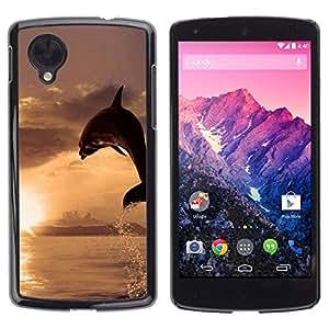 // PHONE CASE GIFT // Duro Estuche protector PC Cáscara Plástico Carcasa Funda Hard Protective Case for LG Nexus 5 D820 D821 / Dolphin Sol /