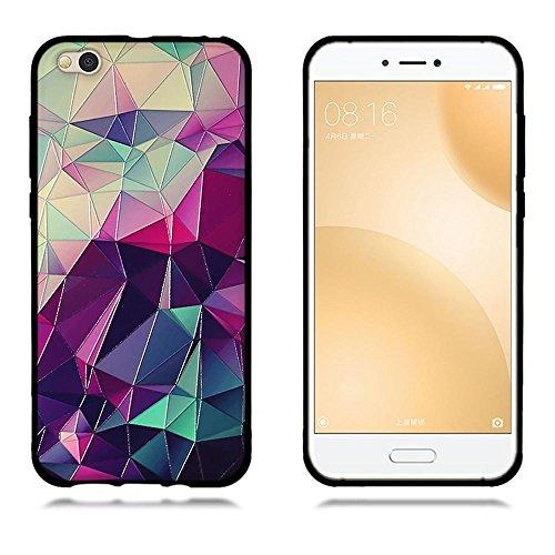 Funda Xiaomi Mi 5c, FUBAODA [Flor rosa] caja del teléfono elegancia contemporánea que la manera 3D de diseño creativo de cuerpo completo protector Diseño Mate TPU cubierta del caucho de silicona suave pic: 02