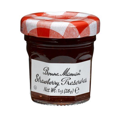 Bonne Maman Strawberry Preserve Mini Jars - 1 oz x 15 pcs Kosher (Jelly Mini)