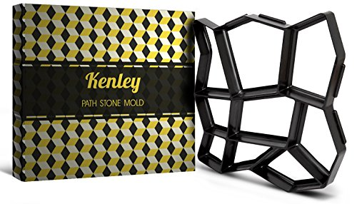 Kenley DIY 17 x 17 inch Path Maker Mold - Reusable Concrete Cement Stone Design Paver Walk Maker Mould - Pattern for Paving Pavement Patio Walkway