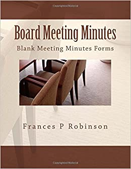amazon board meeting minutes blank meeting minutes forms