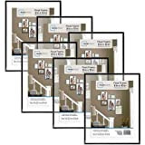 Classic Styles Mainstays Decor 8x10 Float Picture Frame, Set of 6
