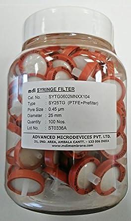 MDI SYTG0602MNXX104 PTFE Membrane Syringe Filter with