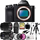 Sony Alpha a7 ILCE-7/B ILCE-7 ILCE-7 Compact Full Frame Mirrorless Camera + FE 28-70mm f/3.5-5.6 OSS Lens + 16-35mm Vario-Tessar T FE F4 ZA OSS E-Mount Lens + 32GB Bundle 10PC Accessory Kit